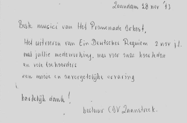 Reacties Het Promenade Orkest